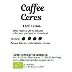 Caffee Ceres - Bio Café Crema